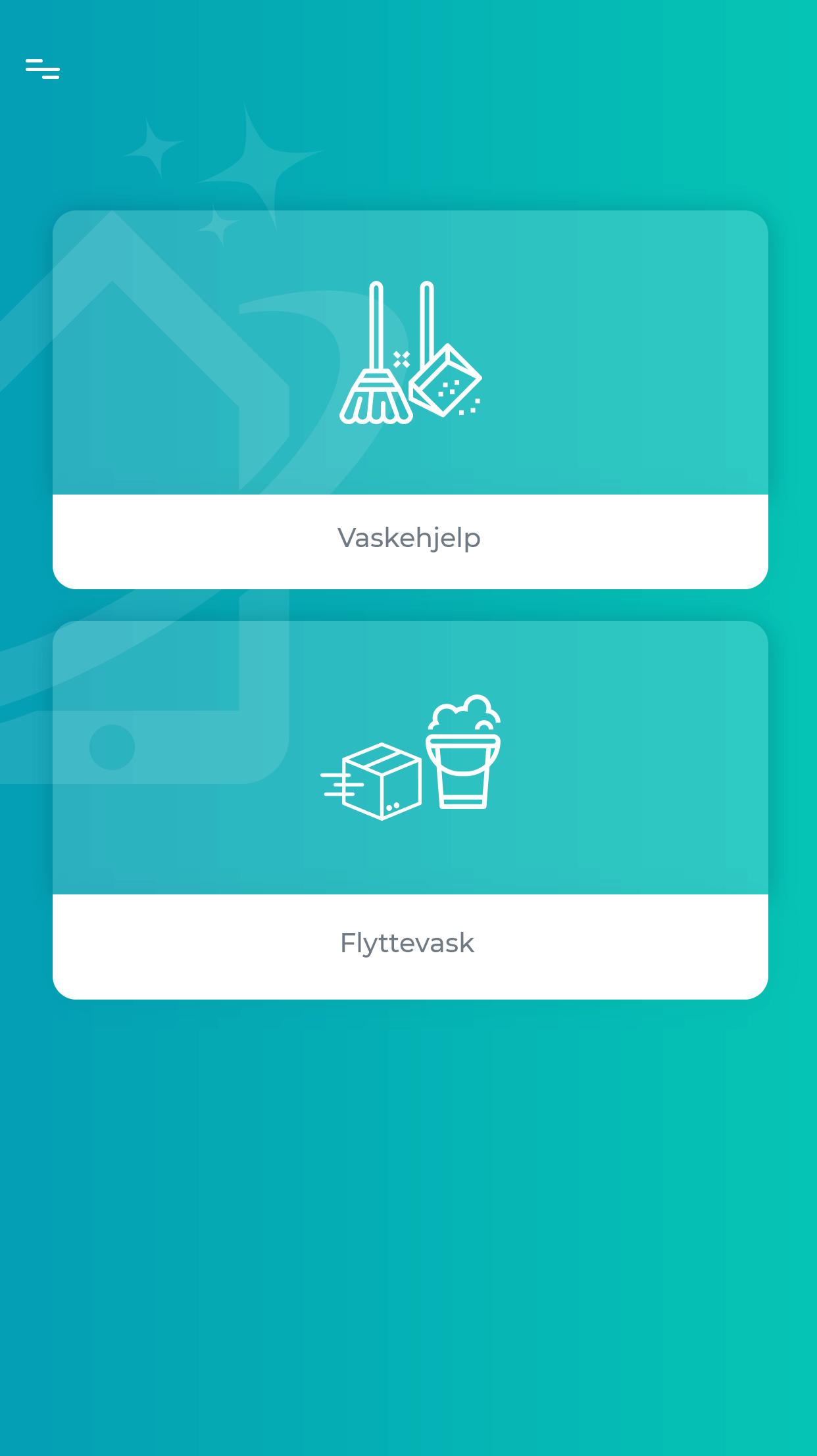 Velg tjeneste - mobile app it renhold